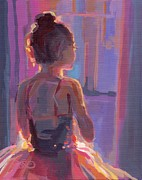 Ballet Painting Originals - In the Wings by Kimberly Santini