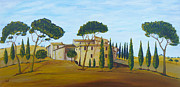 Crete Painting Originals - In Tuscany by Christine Huwer