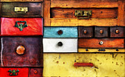 Drawers Metal Prints - In Utter Secrecy Metal Print by Michal Boubin