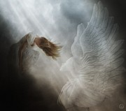 Angel Digital Art - In vain by Gun Legler