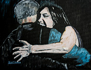 Embracing Painting Originals - In Your Daddys Arms Again by Ian Donley