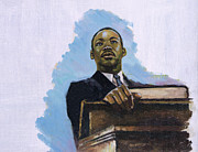 Martin Luther King Jr. Paintings - Inalienable by Colin Bootman