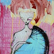 Canvas Mixed Media Originals - Inanna by Mark M  Mellon