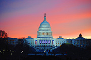 Vice President Biden Photos - Inauguration Sunrise as Painting by Jost Houk