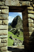 Wonder Of The World Prints - Inca doorway Print by James Brunker