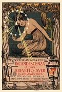 Illustrate Posters - Incandescenza a Gas Poster by Sanely Great