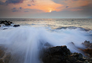 Sunset Seascape Photo Prints - Incoming Print by Mike  Dawson