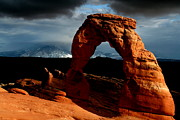Delicate Arch Framed Prints - Incoming storm at Delicate Arch at Arches National Park Framed Print by Jetson Nguyen