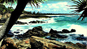 Rocks Ceramics Prints - Incoming tide Print by Kevin Perandis