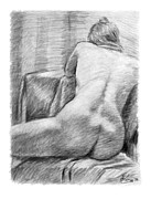 Back Drawings - Incongruous by Adam Long