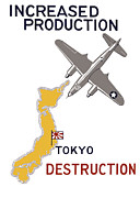 Military Production Posters - Increased Production Tokyo Destruction Poster by War Is Hell Store