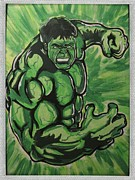 Hulk Paintings - Incredible Hulk by Gary Niles