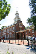 Declaration Of Independence Prints - Independence Hall Print by Angela Rath