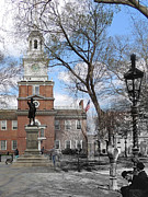 Declaration Of Independence Prints - Independence Hall Courtyard Print by Eric Nagy