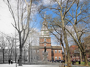 Declaration Of Independence Prints - Independence Hall Print by Eric Nagy