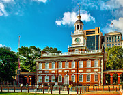 Independence Hall Posters - Independence Hall Poster by Nick Zelinsky