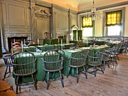 1776 Metal Prints - Independence Hall Metal Print by Olivier Le Queinec