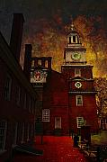 Government Posters - Independence Hall Philadelphia let freedom ring Poster by Jeff Burgess
