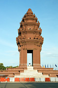 Khmer Framed Prints - Independence Monument Framed Print by Artur Bogacki
