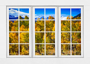 Picture Window Frame Photos Art - Independence Pass Autumn Colors White Window Frame View by James Bo Insogna