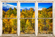 Picture Window Frame Photos Art - Independence Pass Autumn Colors Window View by James Bo Insogna