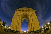 India Metal Prints - India Gate Metal Print by Aaron S Bedell