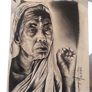 Dallas Drawings - India by Joaquin Hernandez