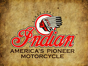 Indian Framed Prints - Indian Americas Pioneer Motorcycle Framed Print by Mark Rogan