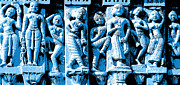 Statues Sculpture Posters - Indian Art Poster by Mamta Bhalavat