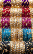 Sparkling Prints - Indian Bangles Print by Tim Gainey