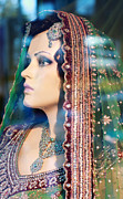 Jewellery Prints - Indian Bride Mannequin Print by Charline Xia