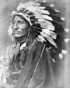 Tribes Photo Framed Prints - Indian Chief - 1902 Framed Print by Daniel Hagerman