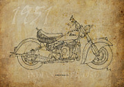 Indian Ink Prints - Indian Chief 1951 Print by Pablo Franchi