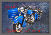 Past Times Framed Prints - Indian Chief Motorcycle Legend Framed Print by Heiko Koehrer-Wagner