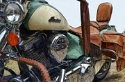 Motorcycles Art - Indian Chief Vintage l by Michelle Calkins