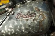 Antique Harley Davidson Photos - Indian Chopper Gas Tank by Jill Reger