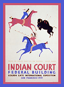 United States Travel Bureau Prints - Indian Court Print by Unknown