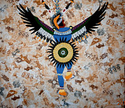 Beaded Tapestries - Textiles - Indian Dance by Linda Egland