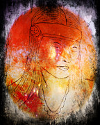Michael Mixed Media Framed Prints - Indian Dream  Framed Print by Michael Knight