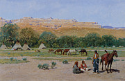 Indian Encampment Print by Henry Farny
