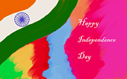 Independence Day Paintings - Indian Independence Day by Pratyasha Nithin