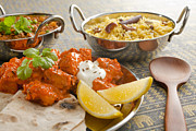 Curry Prints - Indian Meal  Print by Colin and Linda McKie