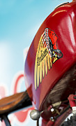 Biking Photos - Indian Motorcycle Abstract by Tim Gainey