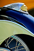Fender Photos - Indian Motorcycle Fender Emblem by Jill Reger