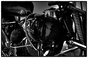 Monotone Prints - Indian Motorcycle II Print by David Patterson