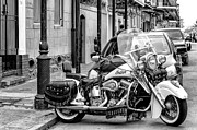 Kathleen K Parker - Indian Motorcycle in NOLA-BW