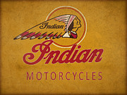 Indian Framed Prints - Indian Motorcycles Framed Print by Mark Rogan