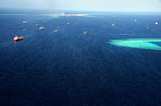 Jenny Rainbow - Indian Ocean. Aerial View of Maldives