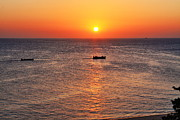 Fishing Boat Sunset Prints - Indian Ocean Evening Scene Print by Aidan Moran