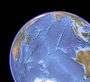 Indian Ocean, Sea Floor Topography Print by Science Photo Library